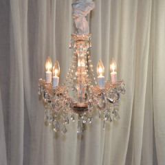 "5 Light Vintage Crystal   24""w x 24""h"