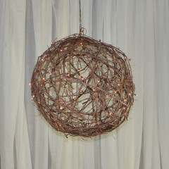 "Lit Grapevine Ball 18"",  24"",  36"""