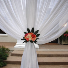 Wide Tent Pole Curtain