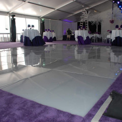 White Acrylic in Stage Floor for Dance Floor